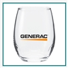9 Oz Perfection Stemless Wine Taster Glass with Custom Printed Logo, Perfection Glass Custom Branded, 216, Custom Wine Glasses