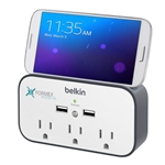 Belkin USB Wall Mount Surge Protector with Cradle  Custom Logo, Corporate Logo Belkin Surge Protectors, Custom Logo Belkin Surge Protectors, Belkin Custom Logo, Belkin  Corporate Gifts, Belkin Corporate Incentives