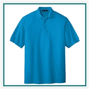 Port Authority Men's Silk Touch Polo with Pocket with Custom Embroidery, Port Authority Custom Polos, Port Authority Custom Logo Apparel