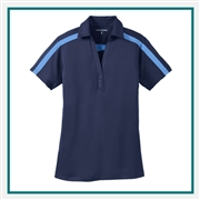 Port Authority Ladies Performance Pique Polo with Custom Embroidery, Port Authority Custom Polos, Port Authority Custom Logo Gear