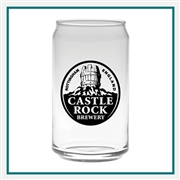 16 oz. Soda Can Glass, with Custom Logo, Custom Logo Soda Glasses, Glass America Item Number 1041, Custom Printed Glasses