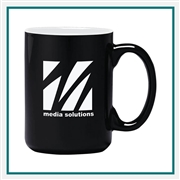 15 Oz. Atlas Ceramic Mug, Custom Logo C-handle coffee Mug, Glass America Item Number 83000, Custom printed mugs