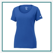 Nike Golf Ladies Core Cotton Scoop Neck Tee with Custom Embroidery, Nike Custom T-Shirts, Nike Custom Logo Gear