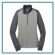 Nike Ladies Dri-FIT 1/2-Zip Cover-Up 578674 with Custom Embroidery, Nike Dri Fit Women's Pullover, Nike Corporate Outerwear Collection, Nike Dri Fit Pullover with Corporate Logo