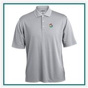 Pebble Beach Grid Texture Polo Custom Embroidery