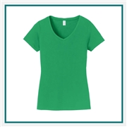 Port & Company Ladies Fan Favorite V-Neck Tee LPC450V with Custom Embroidery, Custom Embroidered Port & Company T-Shirts, Hanes LPC450V T-Shirt Best Price