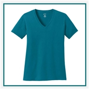 Port & Company Ladies Cotton V-Neck T-Shirt LPC54V with Silkscreen Logo, Custom Logo Port & Company T-Shirts, Port & Company LPC54V T-Shirt Best Price