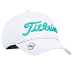 Titleist Woman's Tour Performance Ball Marker Hat with Custom Embroidery, Titleist Custom Hats, Titleist Corporate Logo Gear