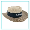 AHEAD Straw Hat Gambler with Custom Embroidery, AHEAD Custom Hats, AHEAD Custom Logo Headwear