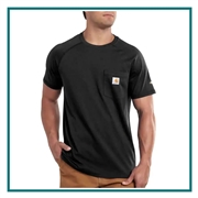 Carhartt Men's Force Cotton Delmont Short Sleeve T-Shirt CT100410 with Custom Silkscreened, Carhartt Custom Work T-Shirts