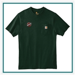 Carhartt Men's Workwear Pocket Short Sleeve T-Shirt CTK87 with Custom Silkscreened, Carhartt Custom Work T-Shirts, Carhartt Custom Logo Gear