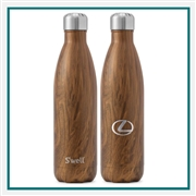 S'Well 17 Oz. Wood Collection Bottle  with Engraved Logo, S'Well Custom Logo, Custom Engraved S'Well, S'Well Corporate Gifts