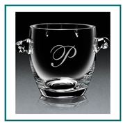 Hand Blown European Crystal Small Coronet Ice bucket, Crystal Ice Buckets with Engraved Logo, Crystal Ice Buckets, Personalized Crystal Ice Buckets