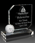 Optical Crystal Hole in One Golf Award, Customized Crystal Golf Trophies, Crystal Golf Hole in One Award, Custom Etched Crystal Golf Trophies Free Shipping