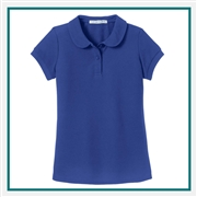 Port Authority Girls Silk Touch Peter Pan Collar Polo YG503 with Custom Embroidery, Custom Logo Port Authority Polos, Embroidered Port Authority Polos, Embroidered Port Authority, Port Authority Embroidery