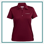 Pebble Beach Ladies Horizontal Texture Polo Custom Embroidered