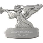 Engraved Pewter Angel Ornament
