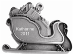 Pewter Sleigh Personalized Ornament