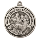 Engravable Third Day of Christmas Ornament