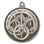Engravable Fifth Day of Christmas Ornament