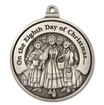 Engravable Eighth Day of Christmas Ornament