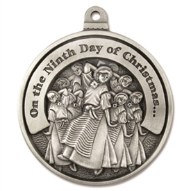Engravable Ninth Day of Christmas Ornament