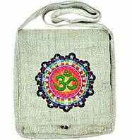 Wholesale Om Symbol Hemp Shoulder Bag