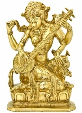 Goddess Saraswati Brass Statue Wholesale