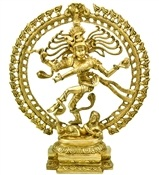 Natraj Dancing with Dragon on Top Brass Statue