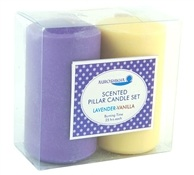 Auroshikha French Lavender & Vanilla Pillar Candle