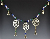Pentacle With Bells & Beads