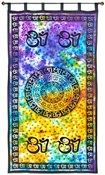 Wholesale Curtain - Tie Die Om Chakra Curtain
