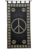 Wholesale Curtain - Gold Print Peace Sign Curtain