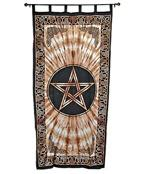 Wholesale Curtain - Brown Pentacle Curtain