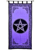 Wholesale Curtain - Purple Pentacle Curtain