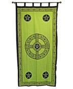 Wholesale Curtain - GreenCeltic Cross Pentacle Curtain
