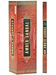 Wholesale Incense - Hem amber-Sandal Incense Square Pack