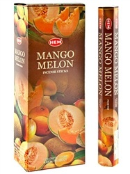 Wholesale Hem Mango Melon Incense - 20 Sticks Hex Pack