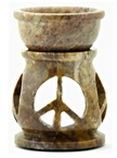 Stone Carved Peace Sign Aroma Lamp