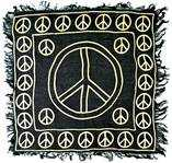 Wholesale Gold Print Peace Sign Scarves/Altar Cloth