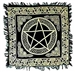 Wholesale Gold Print Pentacle Scarves/Altar Cloth