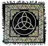 Wholesale Gold Print Triquetra Scarves/Altar Cloth