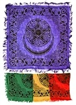 Wholesale Pentacle with Moon Scarves/Altar Cloth