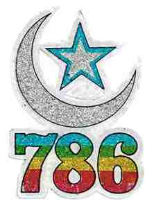 786 Moon Star Stickers