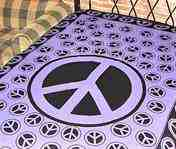 Wholesale Tapestry - Purple Peace Sign Tapestry/Bedspread