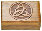 Wholesale Triquetra Carved Wooden Box