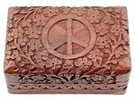 Wholesale Peace Sign Wooden Box
