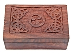 Wholesale Celtic Triskel Wooden Box