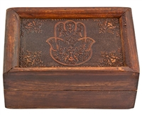 Wholesale Celestial Brass Inlay Wooden Box