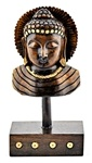 Wooden Buddha Bust Table Decor